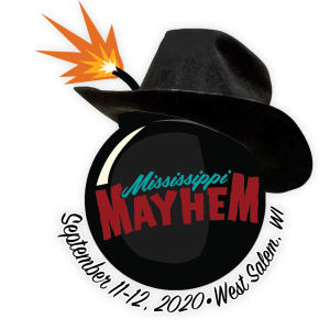 Mississippi Mayhem 2020 bomb wearing cowboy hat logo