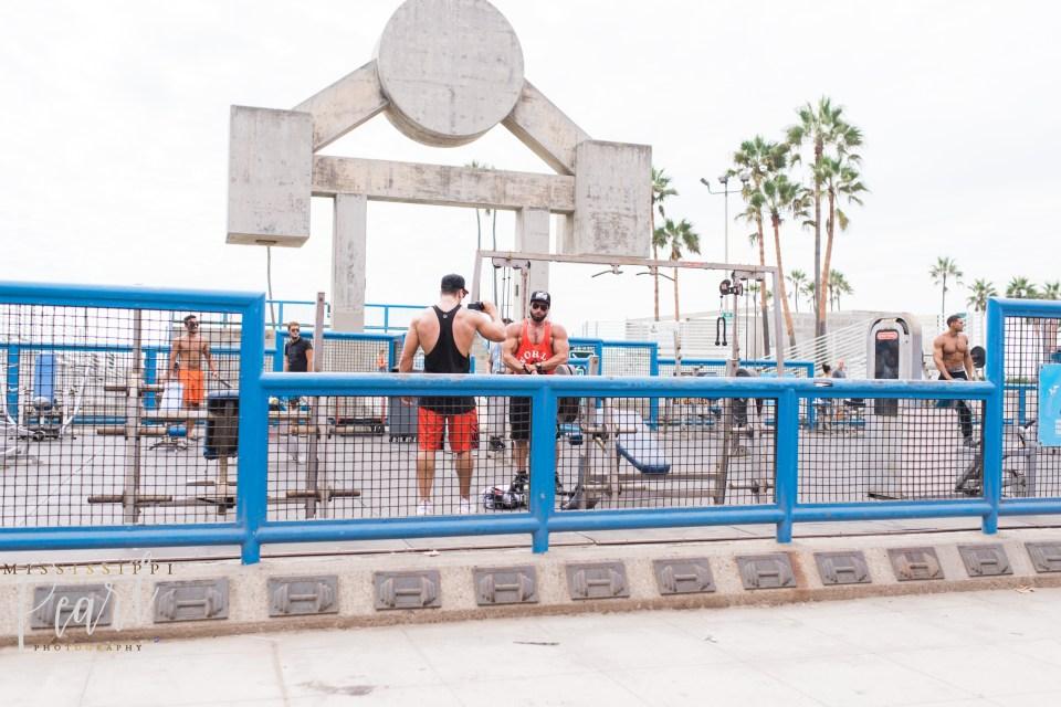 Muscle Beach at Venice Beach Bodybuilders