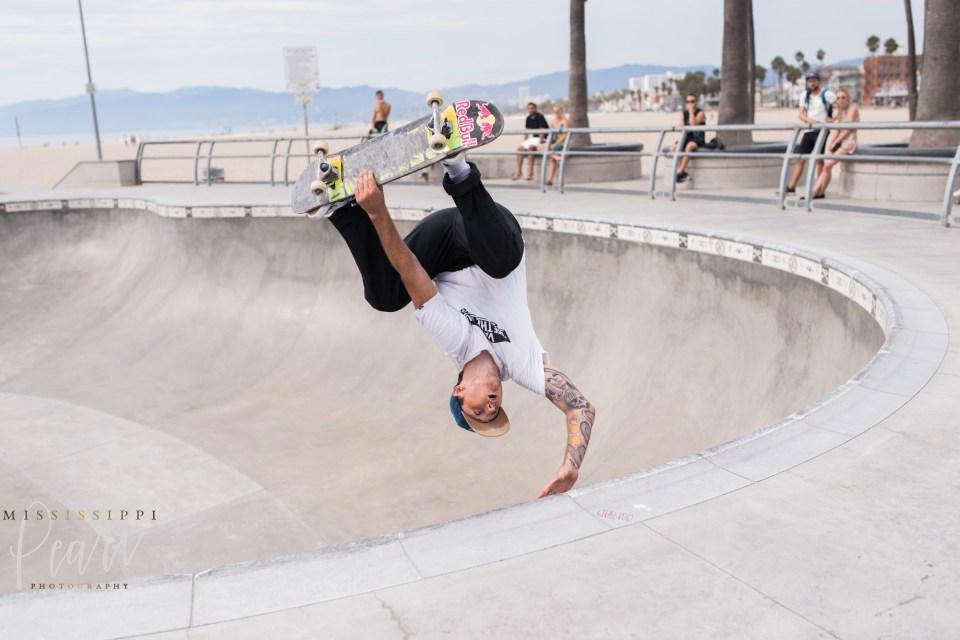Venice Beach Skatepark Handstand Chris Russell