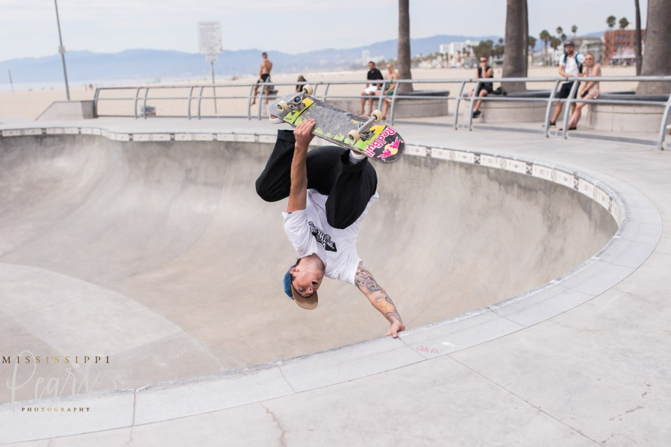 Venice Beach Skatepark handstand