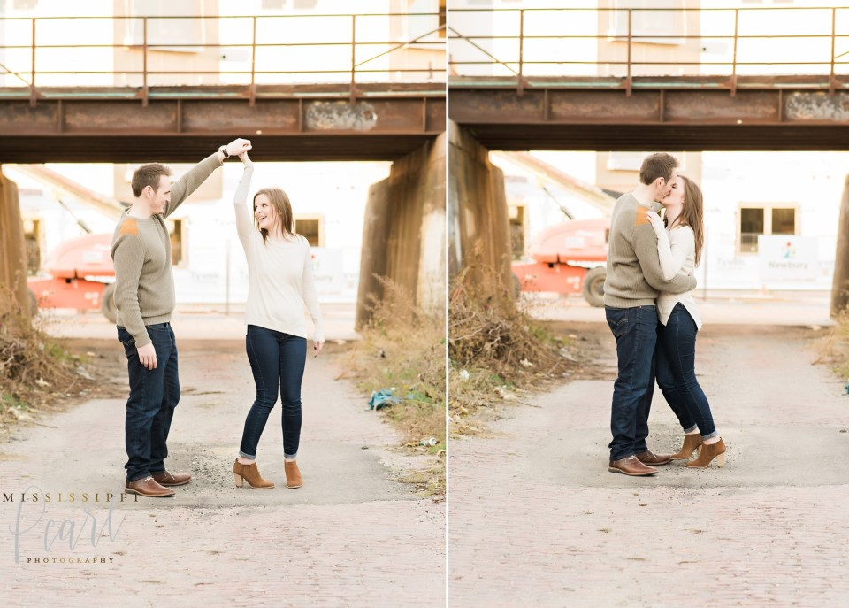Downtown Davenport Engagement Photographer