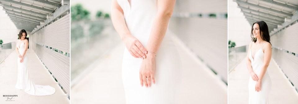 Bridal jewelry close up of a bracelet