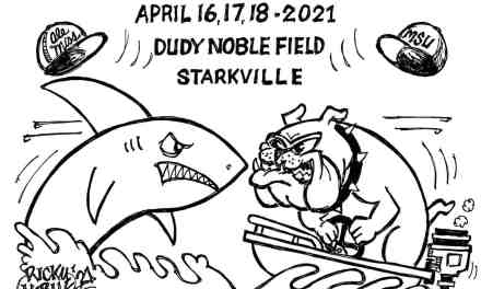 MS State VS Ole Miss Baseball Weekend Cartoon – By Ricky Nobile