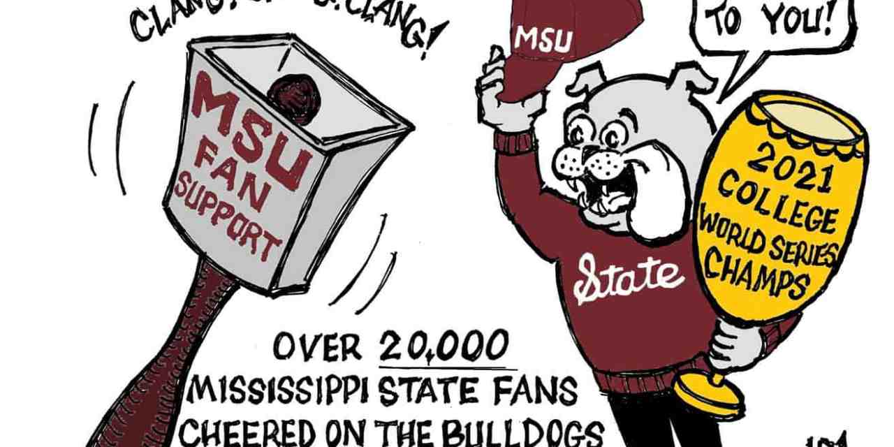 MSU Champs – Hats off to fans cartoon – by Ricky Nobile