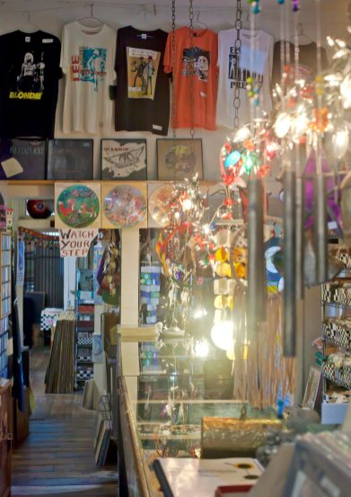 The Little Big Store in Raymond houses an eclectic variety of merchandise including vinyl records, cassettes, CDs, T-shirts, comic books, magazines, jewelry and posters.