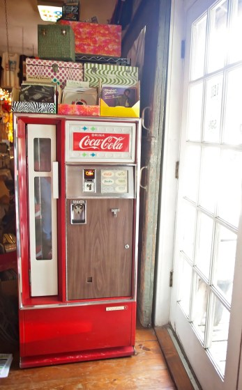 The Little Big Store in Raymond features nostalgic items like this vintage Coca-Cola machine, as well as record and cassette players.