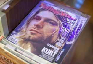 The Little Big Store also sells vintage magazines, such as this issue of Rolling Stone magazine featuring Kurt Cobain from the band Nirvana.
