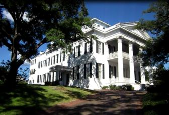 Stanton Hall, designated a National Historic Landmark in 1974, is located in downtown Natchez.