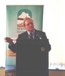 Dr. Mark Keenum, president of Mississippi State University, speaks at Stennis Institute luncheon in Jackson.