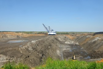 A dragline excavator seen at Liberty Mine, adjacent to the Kemper County energy facility.