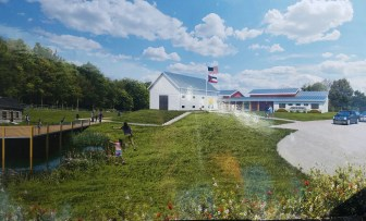 Artist's conception of the visitor's center to be built in Onward.
