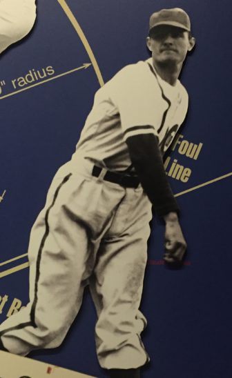 This image of Claude Passeau hangs at the Mississippi Sports Hall of Fame