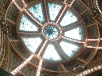 The ceiling of the Capitol rotunda.
