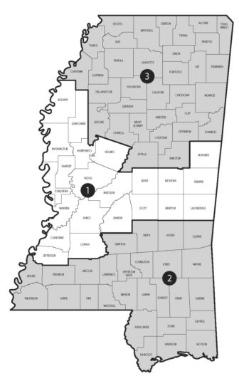 Map of Supreme Court Districts