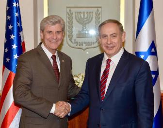 Gov. Phil Bryant with Israeli Prime Minister Benjamin Netanyahu in a photo he posted on Facebook.