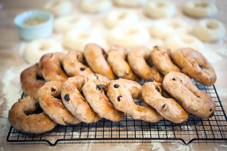 Bagels prepared by Big River Bagels