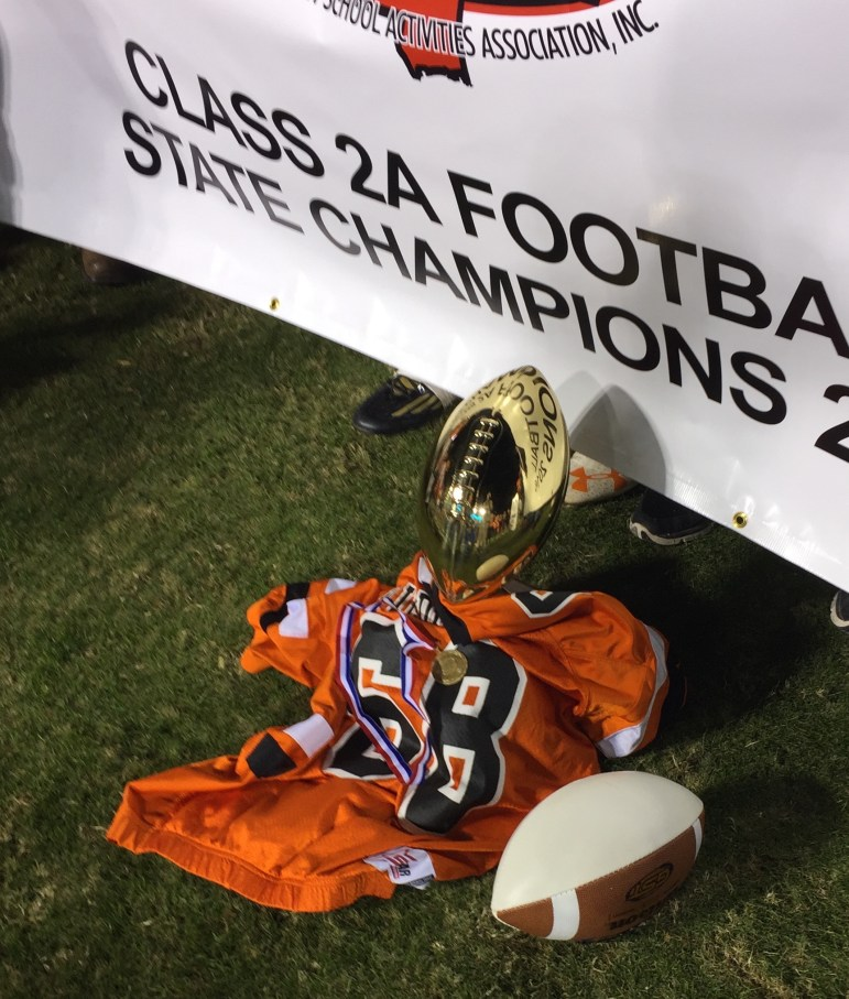 The late Tripp Macon's teammates made sure he was remembered and received his championship medal.