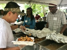 Picnic-goers get a taste of Mississippi with a Penn's catfish plate.