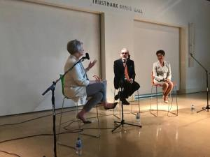 Betsy Bradley, executive director of the Mississippi Museum of Art, asks NEA chairwoman Jane Chu and Malcolm White, executive director of the Mississippi Arts Commission, about the importance of the arts, (To continue slide show, click on arrow on right side of photograph.)