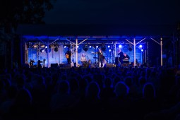 Rosanne Cash and her band perform at the former cotton storage shed at Dockery Farms on June 6, 2015.