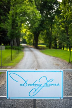 Signage leading to the private Dockery family property