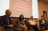 Mississippi Today co-editor Dennis Moore moderates a panel with social media editor Sereena Henderson, C Spire Director of Recruitment Mary Claire Parrish and Jake McGraw of Rethink Mississippi.