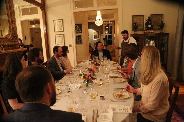 people around table for fundraiser event