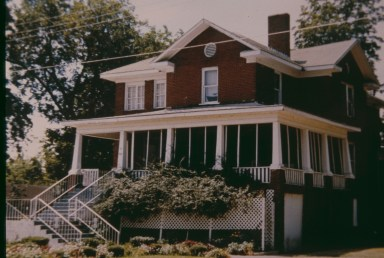 Photo of Mound Bayou Montgomery House in 1990s