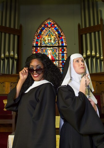Kimberly Myles and Jessica Wilkinson from Sister Act