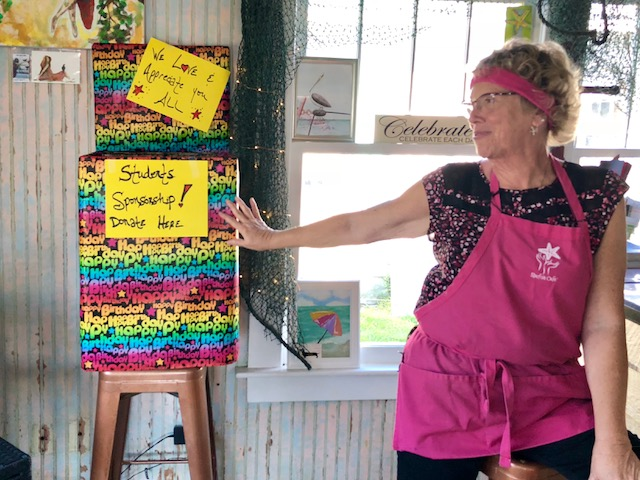 "Starfish Cafe owner Diana ""Di"" Fillhart appreciates donations towards her students' tuition."