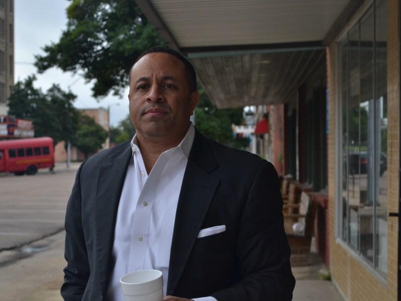 Mayor Chuck Espy in downtown Clarksdale.