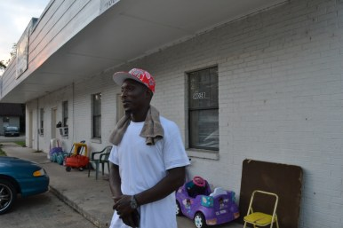 Jonathan Bays of Clarksdale outside an apartment complex
