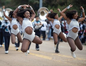Jackson State's J-Settes perform during JSU's homecoming parade Saturday, October 13, 2018.