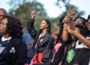 Parade goers watch Jackson State's homecoming parade as it travels near JSU's campus Saturday, October 13, 2018.