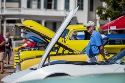 Ronnie Bales, of Summit, takes a look a classic cars during the Biloxi Block Party in the 22nd Annual Cruisin' The Coast event on the Gulf Coast Wednesday, October 3, 2018.