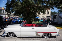A classic Chevrolet Bel Air is on display during the Biloxi Block Party in the 22nd Annual Cruisin' The Coast event on the Gulf Coast Wednesday, October 3, 2018.