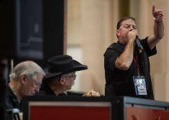 Joey Fortner leads the auction during the 22nd Annual Cruisin' The Coast's Vicari Auction at the Mississippi Coast Coliseum and Convention Center Thursday, October 4, 2018.