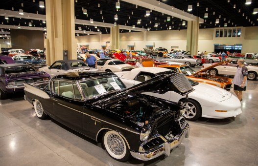 Classic cars are ready to be auctioned in the Vicari Auction during the 22nd Annual Cruisin' The Coast's at the Mississippi Coast Coliseum and Convention Center Thursday, October 4, 2018.