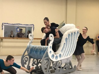 """Kathy Thibodeaux rehearsing """"Return of the Snow Queen"""""""