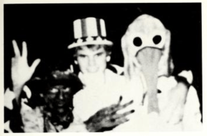The 1986 Mississippi State University yearbook shows a member of the Sigma Phi Epsilon fraternity with darkened skin. No caption or further explanation was published.