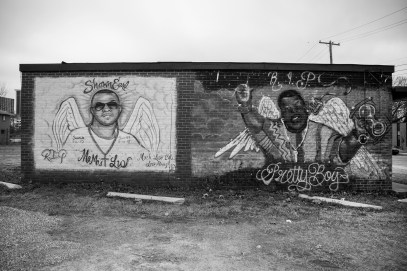 Murals of those who succumbed to gun violence are seen in several places in the city of Jackson.