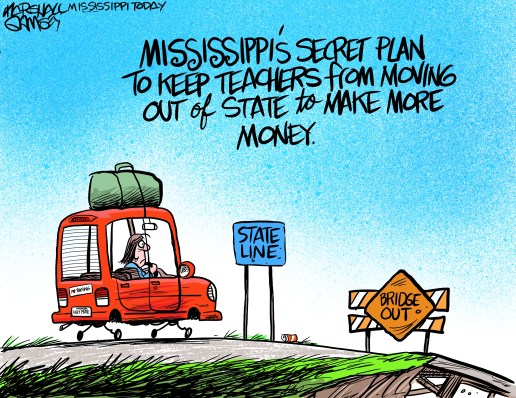 Teachers across Mississippi are grateful for the $1,500 raise. But Mississippi still lags behind other states when it comes to teacher pay.