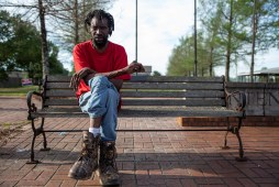 Roddy Berry sits on a bench in Belzoni, Miss., Thursday, April 11, 2019. Humphreys County, where Belzoni is located, is the most audited county in the nation, according to a recent ProPublica report.