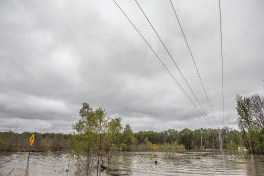 Backwater flooding in Issaquena County Friday, April 5, 2019.