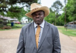 L.D. Miller is photographed in Tchula, Miss., Thursday, May 9, 2019. Despite the conditions of the flooding due to the rise of Tchula Lake, Miller keeps an upbeat attitude and remains positive for his community.