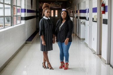 Olecia James, left, and Jasmine Shepard. James and Shepard filed suit against Cleveland School District for alleging systemic racism and inequality.