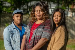 Shalondra Rollins' two sisters Tabitha Rollins (left) and Sherrie Rollins (right) and her mother Cassandra Rollins (center) were at her apartment the morning she died. She had collapsed after experiencing shortness of breath, but she was alert when she entered the ambulance. They could not have anticipated her heart would stop shortly after arriving at the hospital.