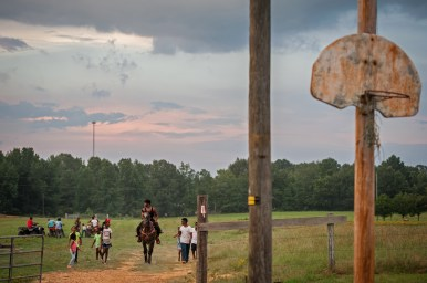 Pam Gary gives rides to the little ones in Tallahatchie County — 2017.