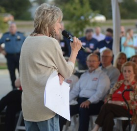 Republican Sen. Cindy Hyde-Smith speaks to supporters during a speaking event hosted by the Madison County Republican Women, the Rankin County Republican Women and the Hinds County Republican Women, Wednesday evening at The Range in Gluckstadt.