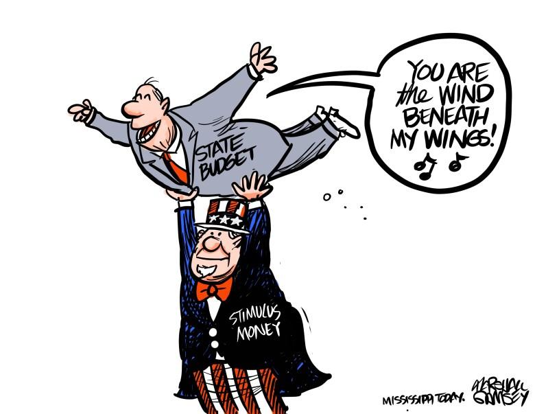 Uncle Sam gives Mississippi a little lift.